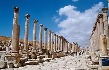 Jerash - die Kolonnadenstraße (Cardo) - Gerasa (Jerash)