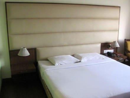 bettpolster zugestaubt auf dem bild nicht gut zu sehen bild hotel mapple abhay in jodhpur. Black Bedroom Furniture Sets. Home Design Ideas