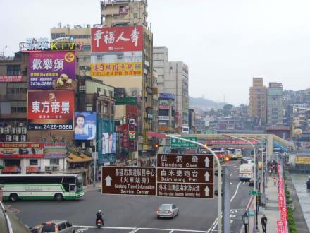 Eine der grossen Strassenkreuzungen - Keelung