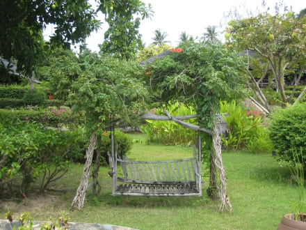 schaukel im garten bild hotel coral bay resort in chaweng beach koh samui thailand. Black Bedroom Furniture Sets. Home Design Ideas