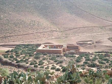 Riad im Anti-Atlas-Gebirge - Antiatlas-Gebirge