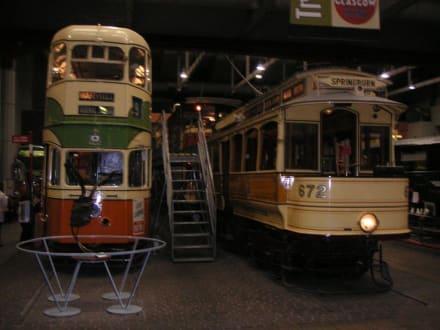 alte Straßenbahnen - Transport-Museum