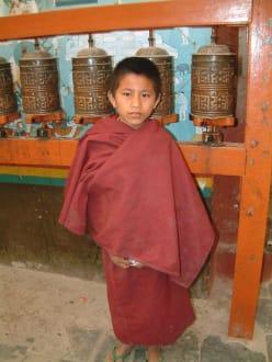 Mönch bei der Swayambhunath-Pagode - Stupa von Swayambhunath