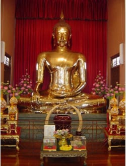Wat Traimit-Tempel -Buddha - Wat Traimit / Goldener Buddha
