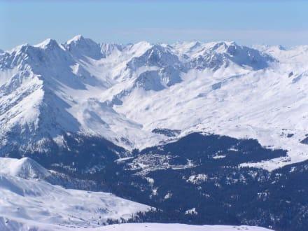 arosa vom  Weisfluhjoch - Skigebiet Arosa Lenzerheide