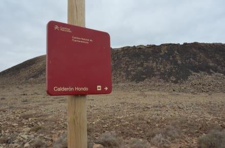 Markierter Weg - Vulkan Calderon Hondo