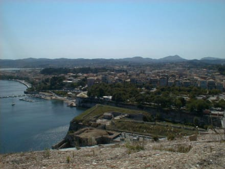 Korfu Stadt von oben - Alte Festung / Palaió Froúrio