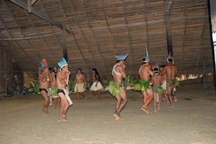 Tucanos Indianer  beim Ritualtanz - Praia do Tupé