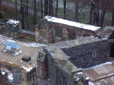 Blick auf die Reste der Kapelle - Burgruine Stolpen