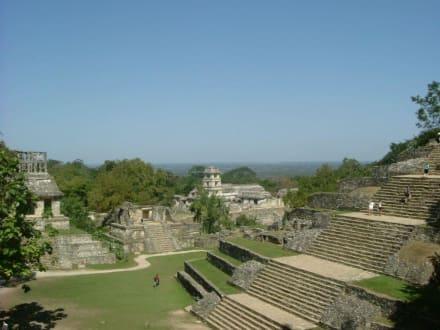 Maya Stätte - Maya Pyramiden Palenque