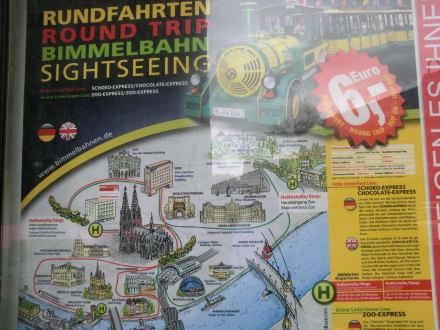 Übersichtstafel am Dom - Stadtrundfahrt Köln