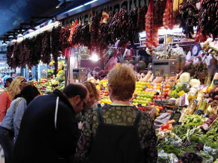 La Boqueria am Ramblas - La Boqueria - Mercat de Sant Josep