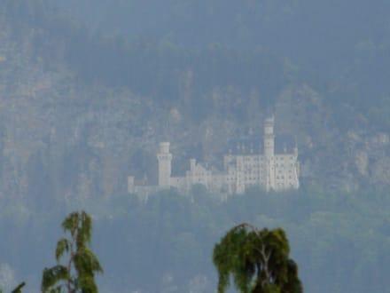 Blick von unserem Balkon auf Neuschwanstein - Schloss Neuschwanstein