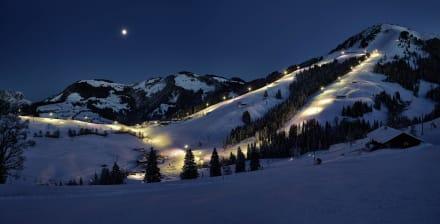 Austrias largest nighttobogganing and skiing area - Rodelverleih Hohe Salve