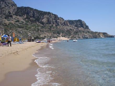 Schönster Sand Strand Auf Rhodos Bild Strand Tsambika In Tsambika