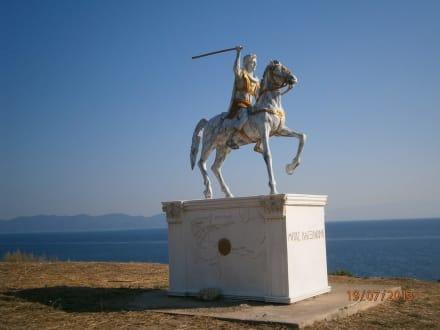 Alexander der Grosse biem Strand von Nea Rodha - Strand Athos