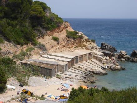 Bootsschuppen - Cala d'en Serra