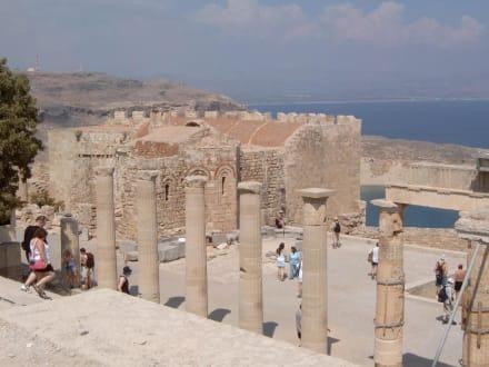 Blick von der Akropolis in Lindos - Akropolis von Lindos