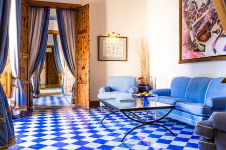 Blue Hallway -