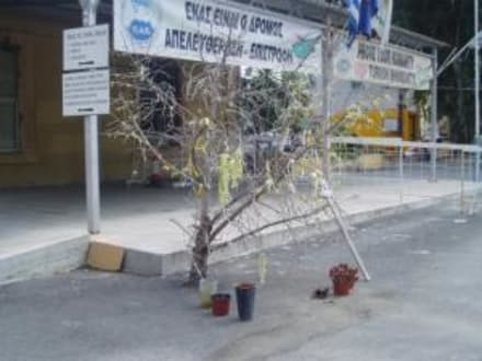 Gegen die Türken / den Frieden - Grenzübergang in Nicosia