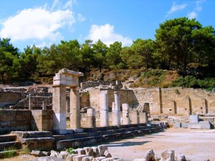 Kamiros - Reste der Tempelanlage - Ausgrabung Kamiros Skala