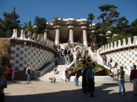 Faszinierende Treppe - Park Güell