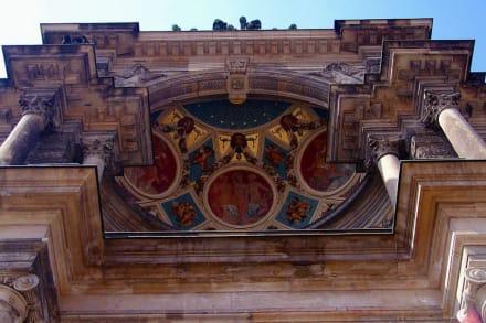 Mosaik über Eingang - Semperoper