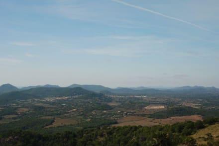 Blick von Talaia Son Jaumell - Strand Cala Mesquida