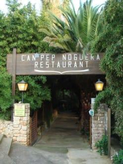 Eingang Restaurant C'an Pep Noguera - Restaurant C'an Pep Noguera