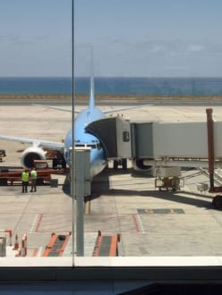 Unser Flugzeug - Flughafen Arrecife (ACE)