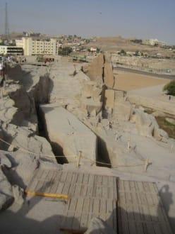 Der Blick auf den Obelisken. - Steinbruch - Unvollendeter Obelisk