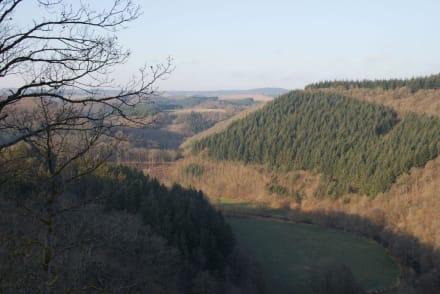 Ausblick nach dem ersten Aufstieg - Lieserpfad