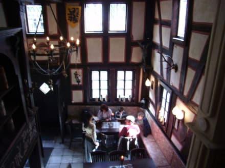 Blick von der Empore - Restaurant Zum Burgkeller