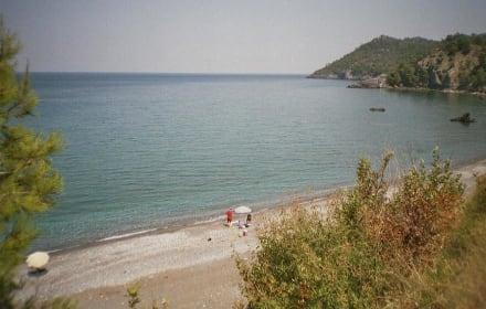Ausläufer vom Strand bei Vlachia - Strand Vlachia
