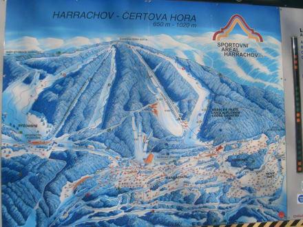 Übersicht der verschiedenen Pisten - Čertova Hora / Teufelsberg