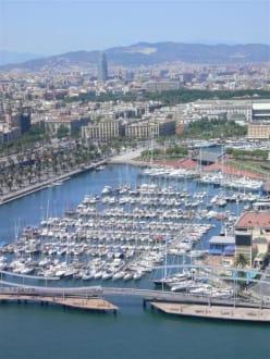 Barcelona aus der Luft - Hafen Barcelona