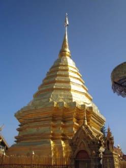Die große goldene Pagode (Chedi). - Wat Phrathat Doi Suthep