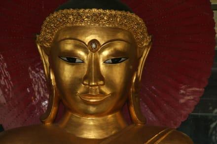 Swedagon Pagode Buddhakopf - Shwedagon Pagode