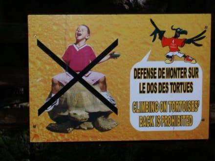Reiten verboten - Casela Bird Park