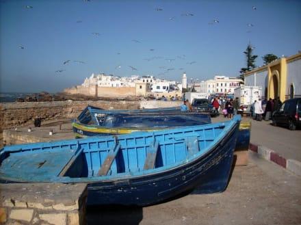 Blick vom Hafen zur Medina - Altstadt Essaouira