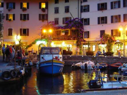 Hafen bei Nacht in Limone - Hafen Limone