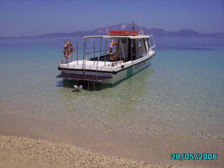 Ausflugsboot auf der Schildkröteninsel - Schildkröteninsel