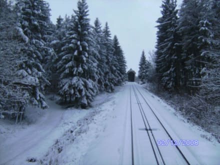 Bergbahn Winterlandschaft - Bergbahn