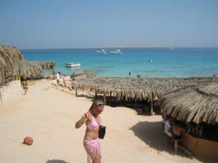 Kleine Hütten auf Mahmya - Giftun / Mahmya Inseln