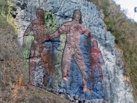 Mural de la Prehistoria - Felsmalerei Mural de la Prehistoria