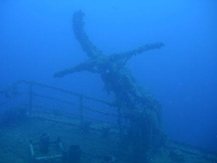 Wrack der St. George - Unterwasser