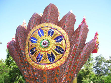 7 köpfige Cobra rückseite  - Weisser Buddha