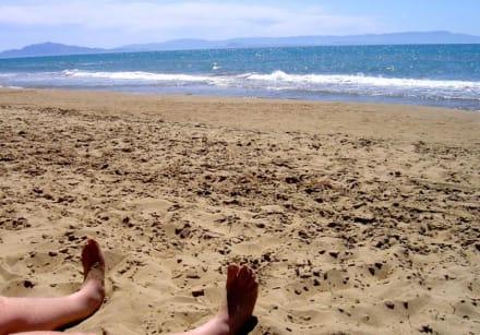 Sand so weit das Auge reicht - Strand Kyllini