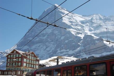 Eigernordwand und Hotel Des Alpes - Kleine Scheidegg