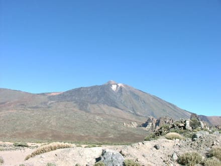 Teide mit Schnee - Teide Nationalpark